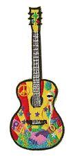 Ecusson patche Guitare Guitar Musicien thermocollant patch DIY brodé
