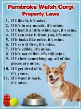 WELSH CORGI Property Laws Magnet Personalized With Your Dog's Name