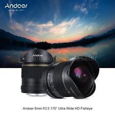 8mm F/3.5 170° HD Super Wide Angle Aspherical Fisheye Lens for Nikon DSLR Camera