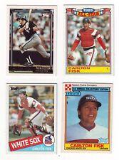 Carlton Fisk 4 Card Lot w/ 1992 Topps Gold, 1984 Topps AS, 1985 Topps