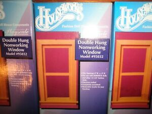 Houseworks Playscale Fashion Doll House 1/6 1/8 Scale Dbl Non Wrk Window #95032