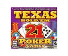 Texas Hold 'Em: 21 Poker Games  (PC, 2004) Brand New Box