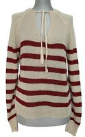 RALPH LAUREN DENIM & SUPPLY STRIPED LINEN SWEATER, L, $175