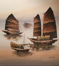 Large Peter Wong Beautiful Chinese Original Oil Signed Framed Priced 2 $ell