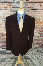 Jos A Bank Men's 42R Dark Brown 100% CASHMERE 3 Button Sport Coat Jacket Blazer