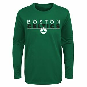Outerstuff NBA Youth Boys Boston Celtics Tactical Stance Performance Tee