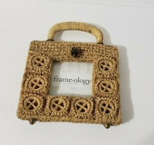 Frameology Photo Frame Boho Wicker Look Picture Frame Table Top