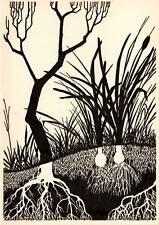 "Original Don Blanding Art Deco Vintage Print 1953 ""Roots"""