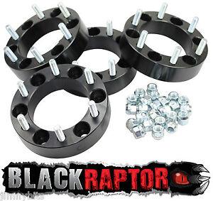 Black Raptor Isuzu Trooper, D-Max, Campo 25mm Aluminium Wheel Spacers