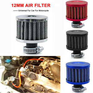 12mm Car Cone Cold Air Intake Filter Turbo Vent Crankcase Breather Valve Cover