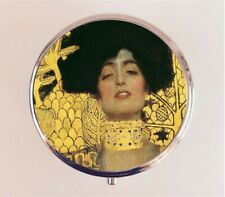 Gustav Klimt Pill Box Pillbox Case - Judith Fine Art Nouveau Painting Stash Box