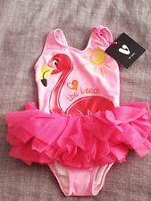 New listing Baby Girls Swimming Costume Flamingo Tutu Skirt 12-18 New with tags