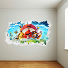 Official Angry Birds Wall Sticker - Day Time Smashed Wall Picture Mural Vinyl