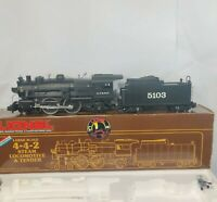 LIONEL LARGE SCALE G-GUAGESTEAM 4-4-2 LOCOMOTIVE & TENDER 8-85103