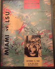 "ORANGE BOWL MIAMI VS  LSU Posters 11x14"" Reproduction Of Vintage Poster"