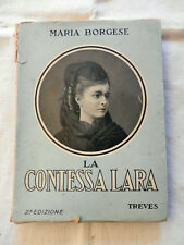 Libro LA CONTESSA LARA Borgese Treves  1936