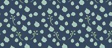Baumwoll Jersey Blumen Ranken dunkelblau mintgrün Sam Kinderstoff Meterware