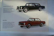 mercedes 230sl pagoda sales brochure 220 sec 300sec 600 limo new original 1964