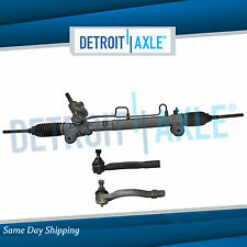 Complete Power Steering Rack and Pinion + 2 New Outer Tie Rod Ends for Camry