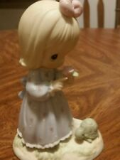 """Precious Moments """"The Lord Can Dew Anything"""" #795208 Little Girl & Turtle 2000"""