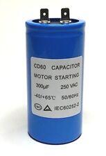 300uF (mfd) 250V AC MOTOR STARTING CAPACITOR CD60 50x100mm Blade Terminal