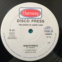 """André Carr –  Disco Frisco  1976   Italy  Vinyl  12""""  H 6018   NMint   UNPLAYED"""