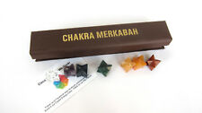 Chakra Merkaba Healing Crystal Set 6inch Box C27-1 Light Body Reiki Ascension