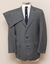 Vintage Mens 41R Hickeys 2 Piece Grey Stripe Wool Suit