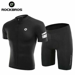 ROCKBROS Summer Cycling Jersey Set Men Women Sponge Shorts T-shirt Breathable