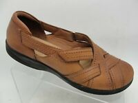 CLARKS Collection Women's Brown Leather Slip On Loafers Flat Shoes Size 9M