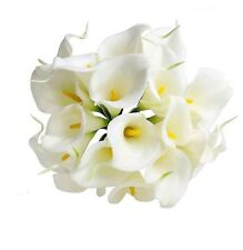 Artificial Touch Fake Lily  Calla Flower Bridal Wedding Decor* x 10 in bunch*