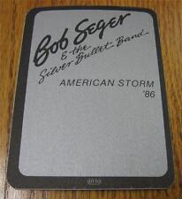 UNUSED Genuine OTTO Backstage Pass Bob Seger American Storm Tour 1986 Silver ver