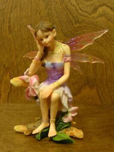 "Faerie Glen #FG834 SWEETPEA, 2005 Flower Series Faeries by Munro, NEW/Box  5"""