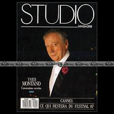 STUDIO - YVES MONTAND YANNICK NOAH GENE TIERNEY JERRY SCHATZBERG LELOUCH 1987