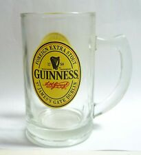 GUINNESS STOUT BEER Vintage Beer Handle GLASS SINGAPORE