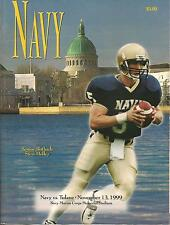 1999 NAVY MIDSHIPMEN FOOTBALL GAMEDAY PROGRAM United States Naval Academy