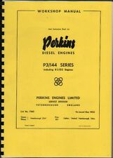 Perkins P3/144 Diesel Engine Workshop Manual Instruction Book