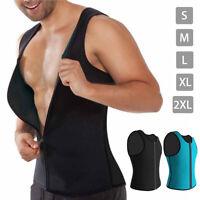 Hombre Zip Chaleco Neopreno Body Shaper Cuerpo Moldeador Deportes Sudadera