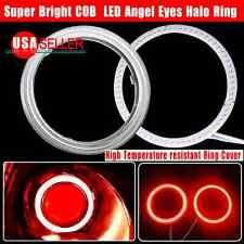 US 2X 60mm Red 66 COB LEDs 12-24V Angel Eyes Halo Ring Fog Housing Lamp