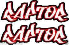 Red Raptor 350 600 660 700 Gas tank air box Graphics Decals Stickers ATV QUAD
