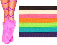"100"" Solid Color Thigh High Leg Wraps Straps Dance Rave Club Wear Festival 3021"
