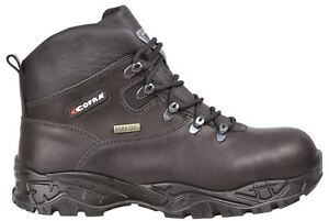 Cofra New Warren Black Full Safety Steel Toecap Gore-Tex Leather Mens Lace Boots