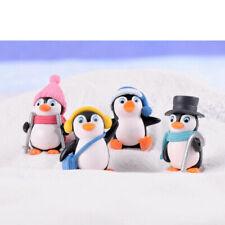 4Pcs Winter Penguin Miniature Figurine DIY Fairy Garden Ornaments Kids Toys ZHF