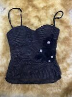 Intimisimi black padded underwired Camisole Top sleepwear nightwear size M cup A