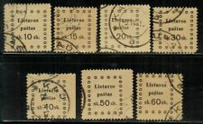 Lithuania #20-26 Complete Set 1919 Used