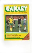 Stoke City Home Teams L-N Football Programmes