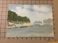 Original Vintage Signed Watercolor -- PARIS 1912 -- FRANK REDE FOESTER