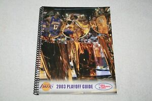 2003 Los Angeles Lakers NBA PLAYOFF MEDIA GUIDE * Kobe Bryant Shaquille O'Neal