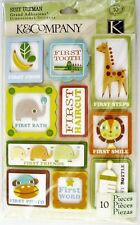 Baby Firsts Tooth Bath Photo Word Smile Food Lion Sleeps K&Company 3D Stickers