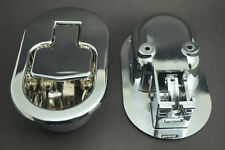 2Pcs Recliner Sofa  Chair Release Lever Handle Control switch ABS Plastic Silver